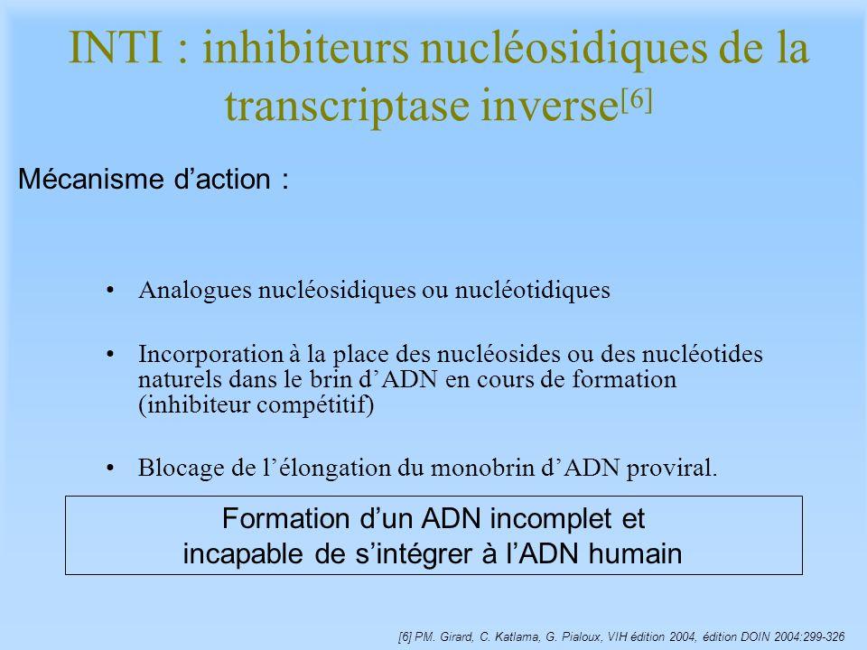 INTI : inhibiteurs nucléosidiques de la transcriptase inverse[6]